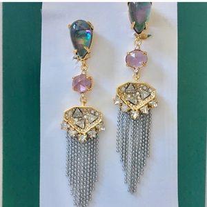 Alexis Bittar Chandelier Delphian Clip Earrings